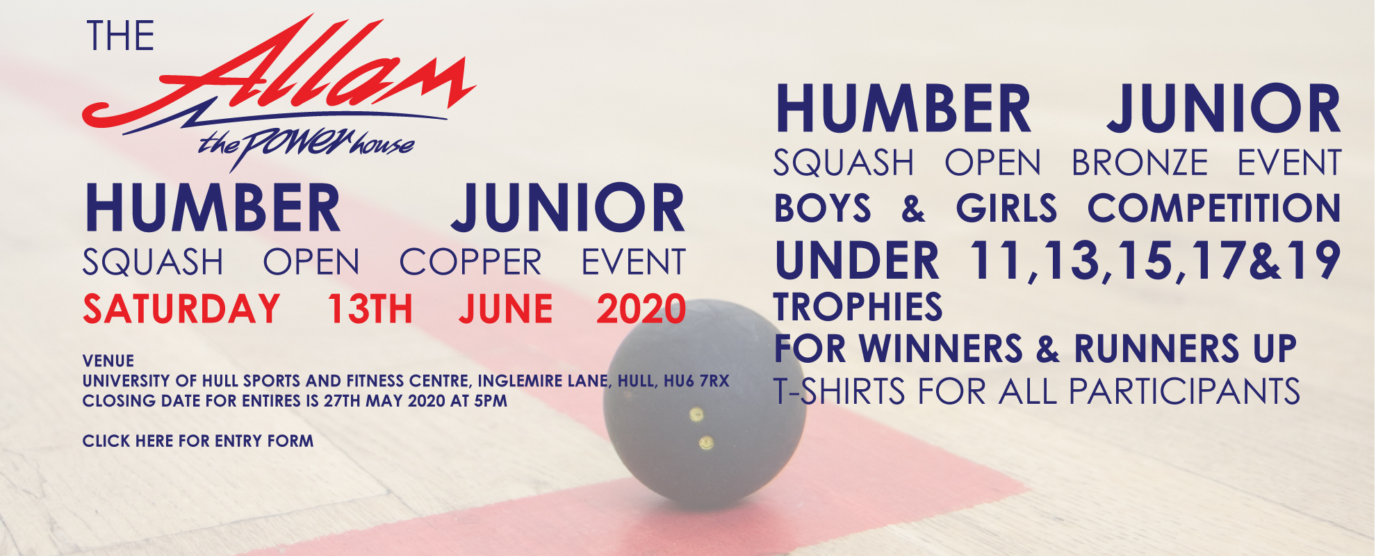 The Allam Humber Junior Bronze Open 2020